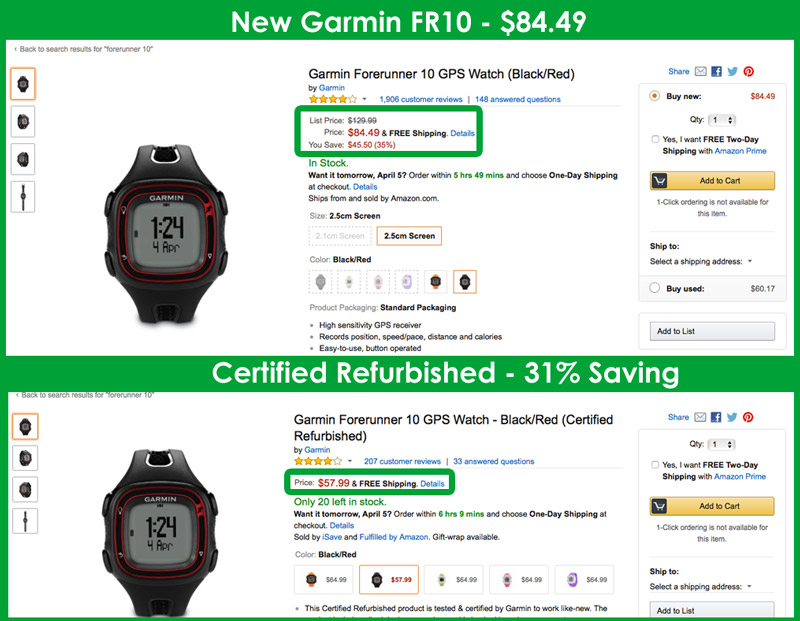 Cheapest Garmin Forerunner 10