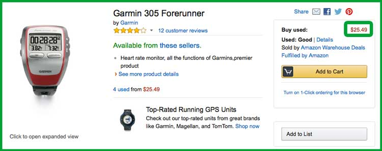 Cheapest Garmin GPS Watch