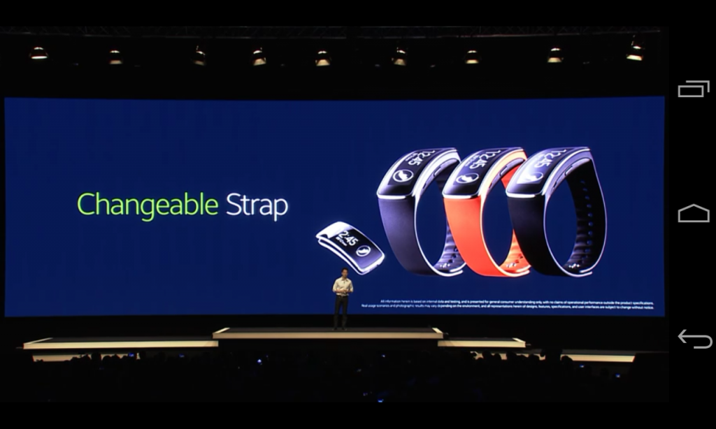 Changing the strap to a different colour on the Samsung Galaxy Gear Fit