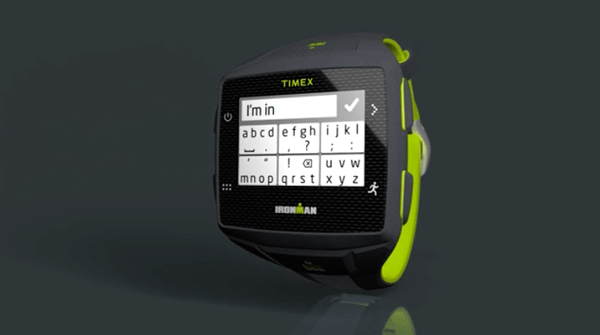 send text messages on Timex Ironman One GPS