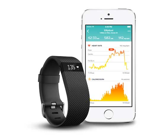 measuring heart rate - Fitbit Charge HR