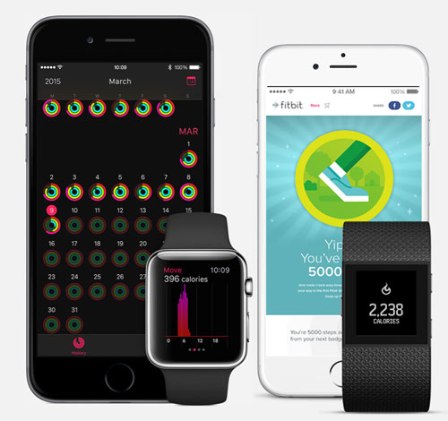 Activity tracking - Fitbit Surge vs Apple Watch Sport