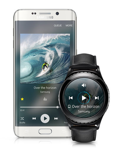 Samsung Gear S2 music connectivity