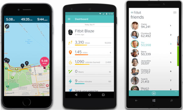 Fitbit app on Windows Phone vs Android vs Apple